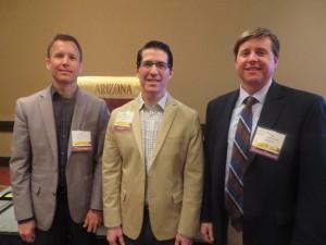 AZUS Officers pictured left to right: Drs. Jason Jameson, Mathew Gretzer, Anthony Woodruff